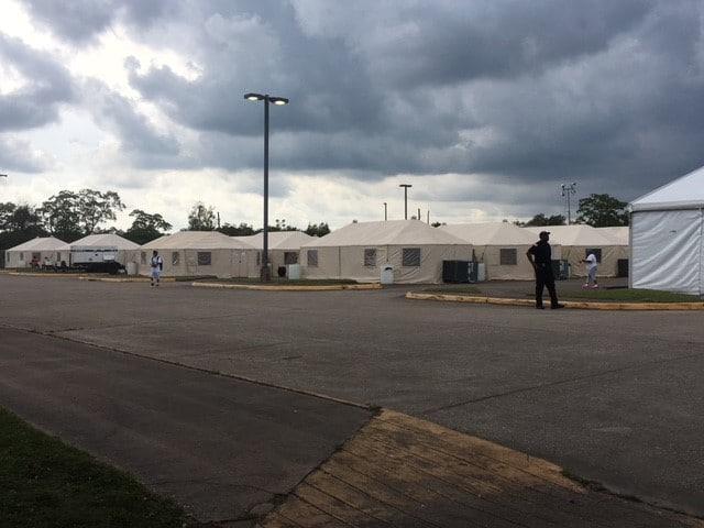 Hurricane Harvey shelter in Port Arthur